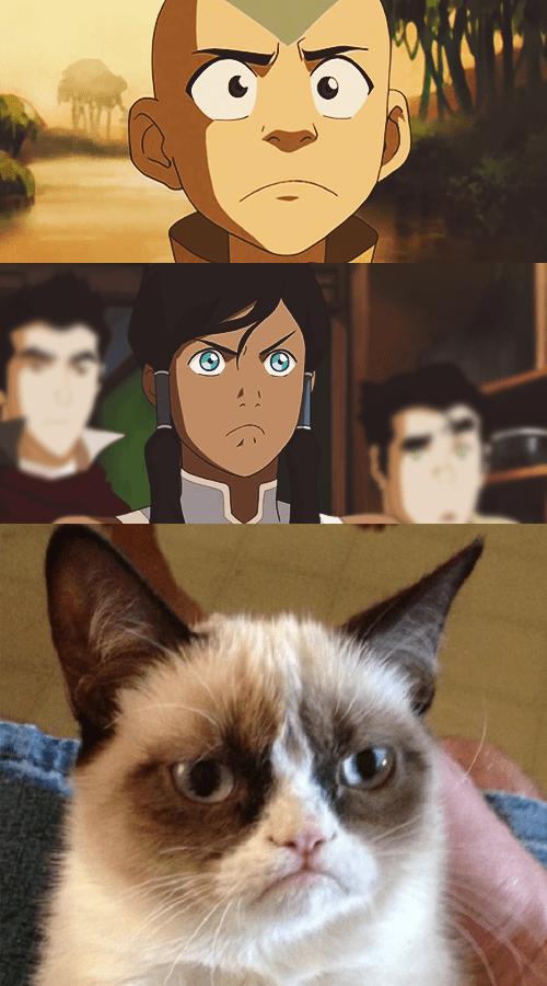 Grumpy Cat reframes Avatar korra - 8245013248