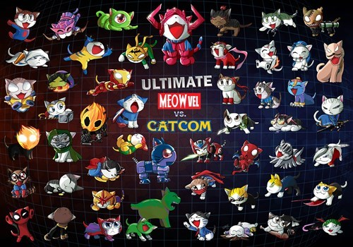 Fan Art,marvel vs capcom,Cats