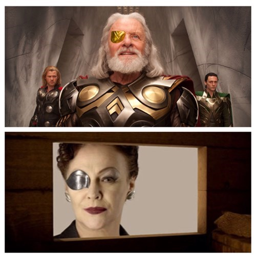 eye patch,the silence,Thor
