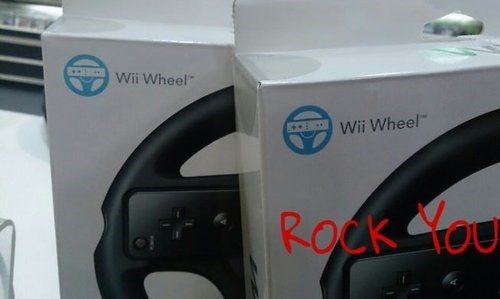 queen,wii wheel,we will rock you