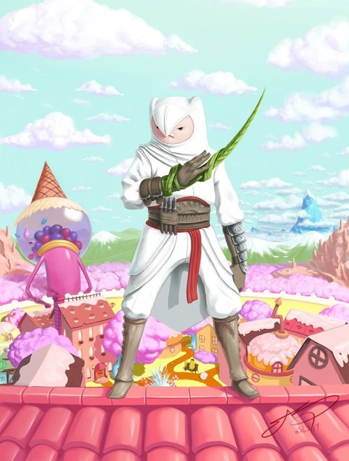Fan Art assassins creed adventure time - 8246414080