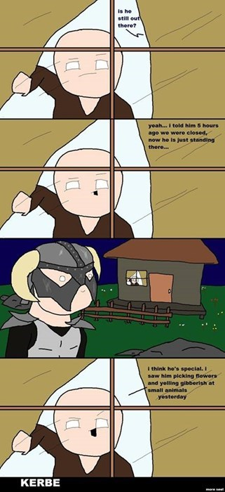 waiting,Skyrim,web comics