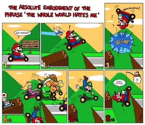 mario kart 8 web comics giving up on life - 8246422272