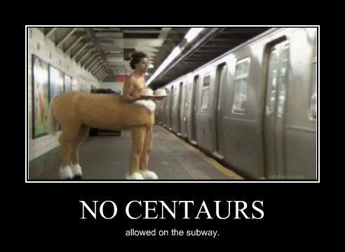 centaur,funny,lonely,Subway