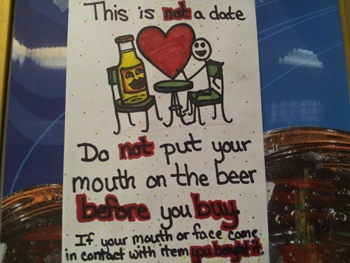 funny liquor store sign after 12 g rated - 8247063040
