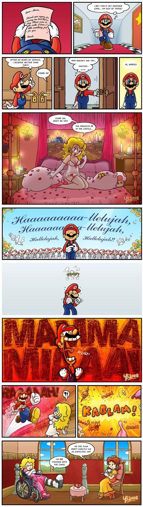 friendzone mario princess peach web comics - 8247318272