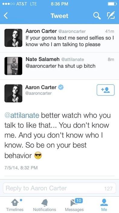 aaron carter twitter - 8247392000