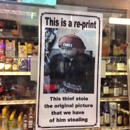poster monday thru friday retail thief - 8247688192