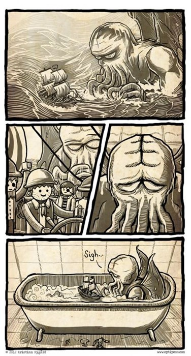 cthulhu legos sad but true web comics - 8247693056
