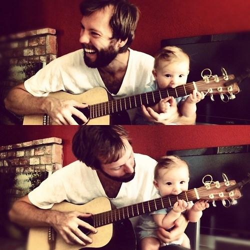 baby,guitar,parenting