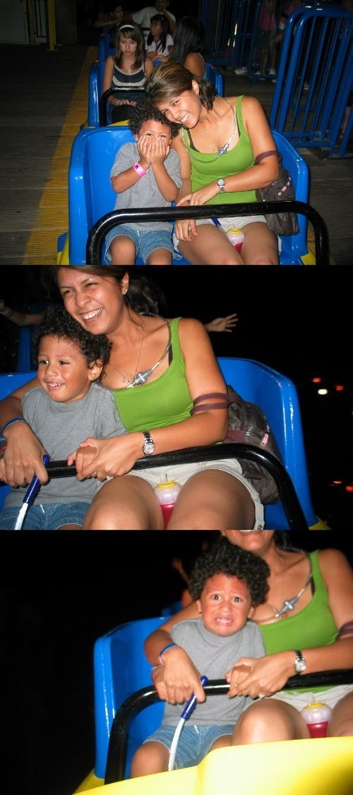 kids,expression,parenting,roller coaster,g rated