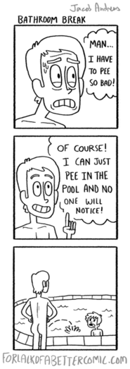 peeing,gross,pool,web comics