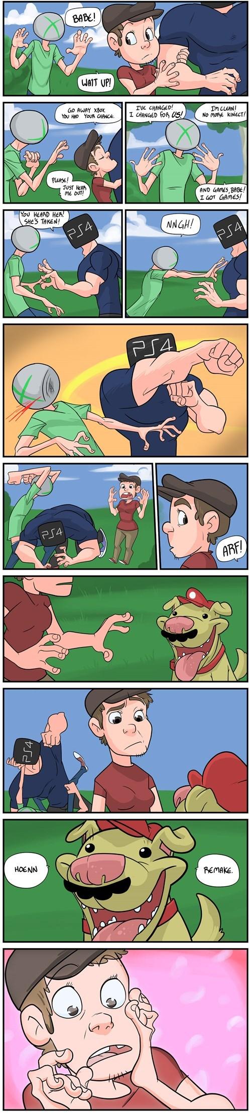 gaming gamers video games web comics hoenn remake