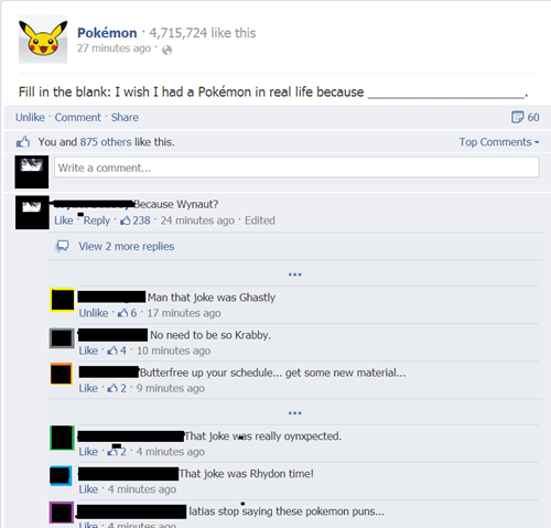 Pokémon puns pokepuns fill in the blank - 8247925760