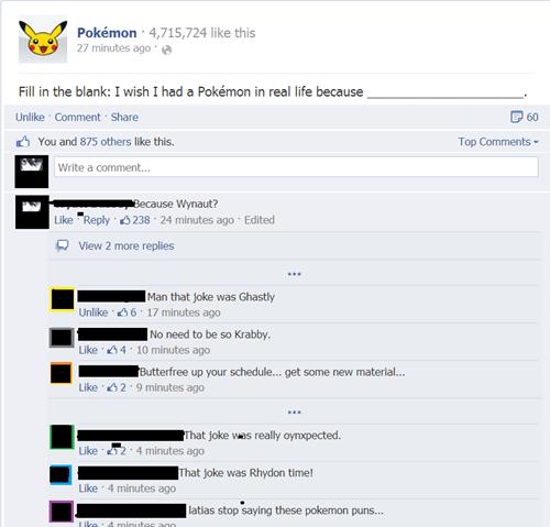Pokémon puns pokepuns fill in the blank - 8247925760