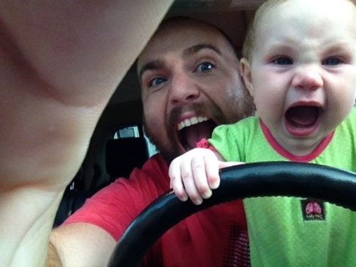 baby screaming expression driving parenting g rated - 8247984896