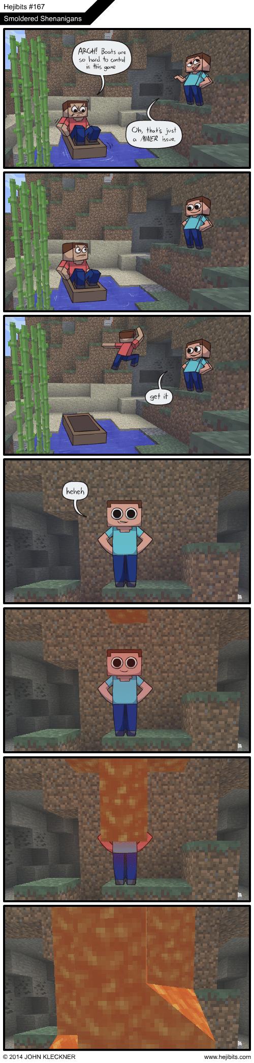 puns minecraft web comics hejibits - 8248035584