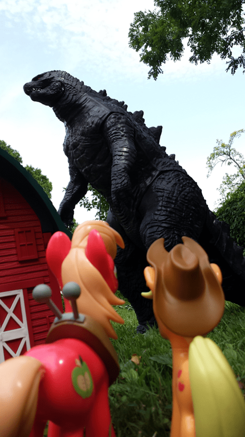 applejack,Big Macintosh,godzilla,rodeo