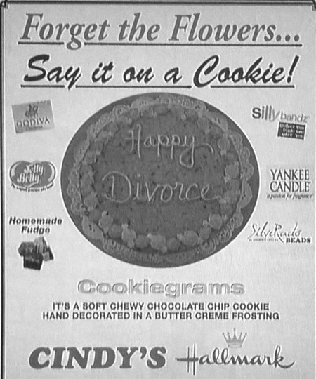 advertisement baking divorce