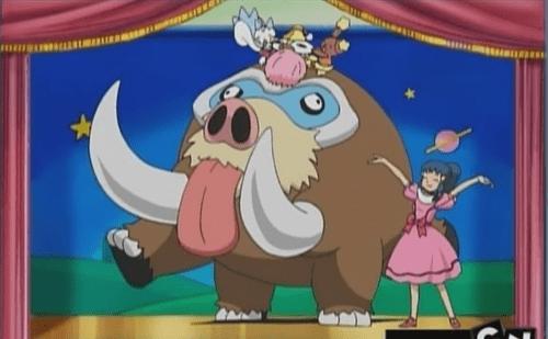 anime mamoswine Pokémon