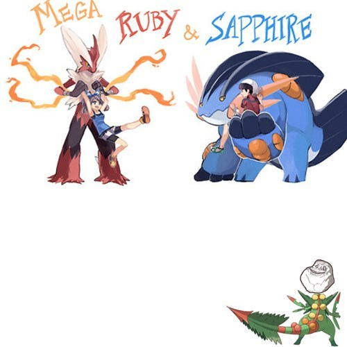 forever alone mega evolution ORAS