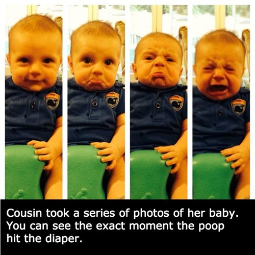 baby,Perfect Timing,Photo,poop,parenting
