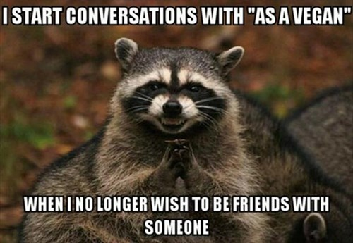 friends,raccoons,vegan