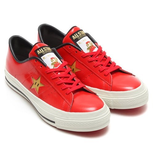 mario converse shoes stars poorly dressed sneakers Super Mario bros - 8248867840