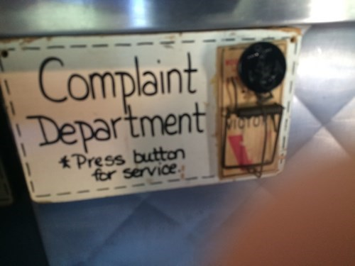 complaint department,mousetrap