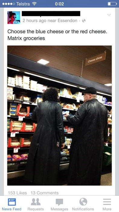 the matrix,fedora,grocery store