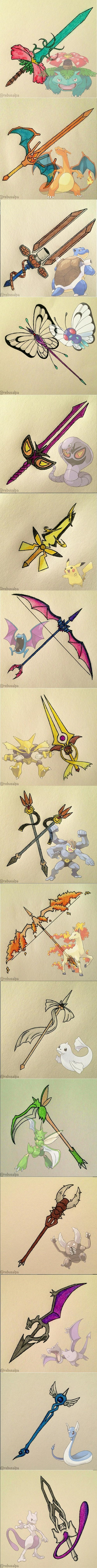 art Pokémon weapons - 8248963840