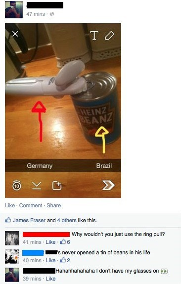 brazil facepalm Germany world cup
