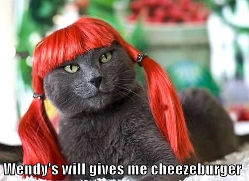 Wendy's will gives me cheezeburger