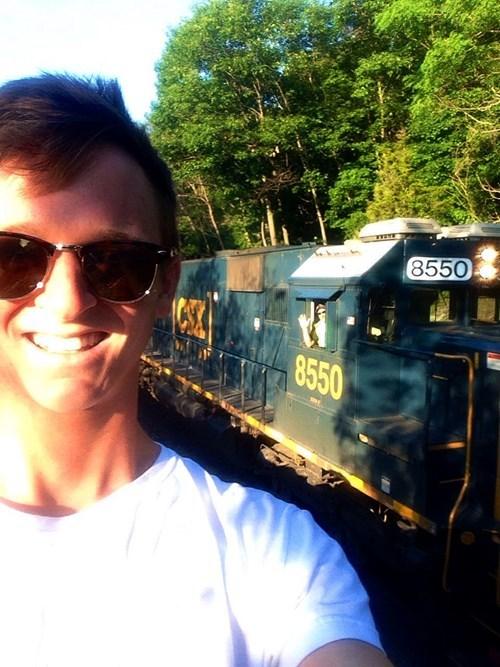 Perfect Timing,selfie,train