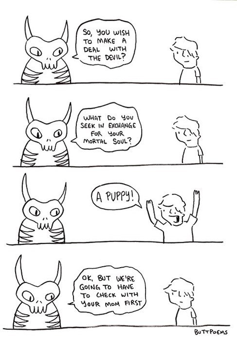 devil,puppies,souls,the devil,web comics