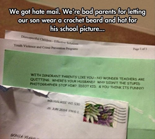 parenting,hate mail