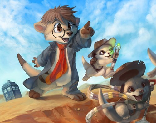 Fan Art,meerkat,the doctor,squee