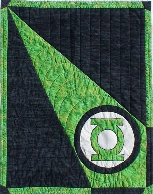 Babies Green lantern quilt - 8250074368