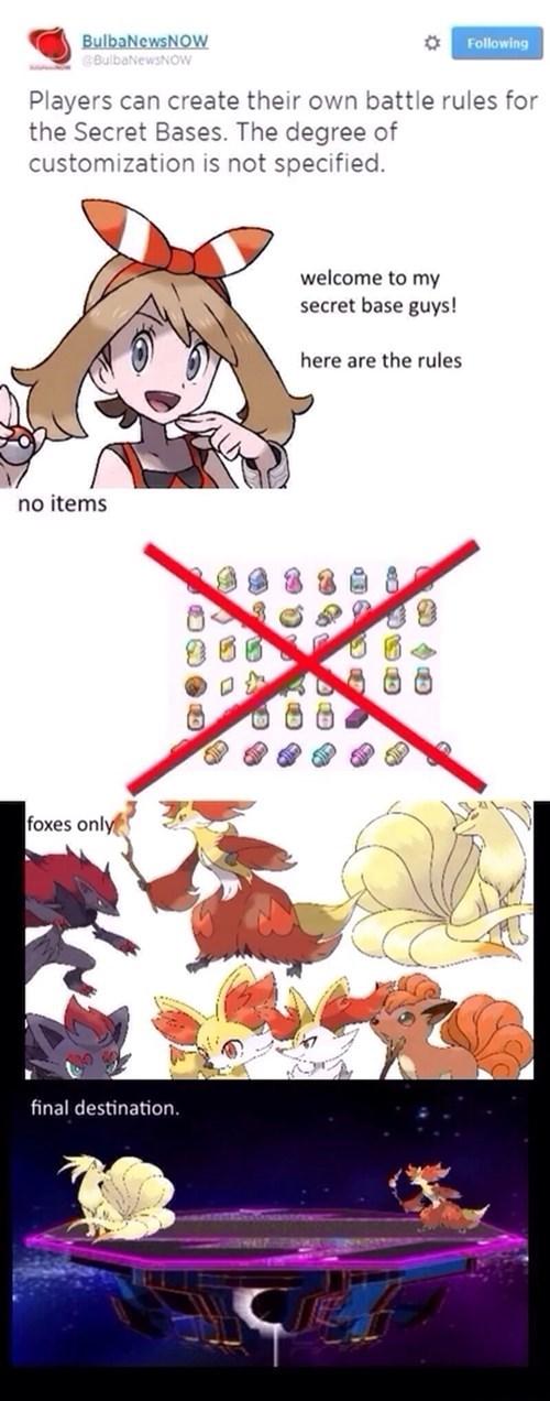 Final Destination Pokémon fox only secret bases - 8250134016