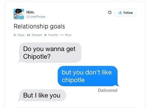 chipotle relationships twitter texting failbook g rated