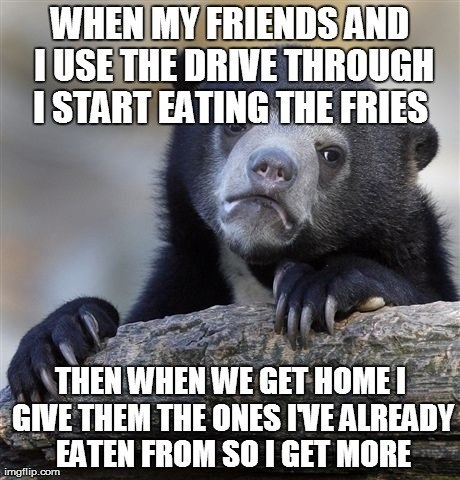 fries Confession Bear - 8250396672