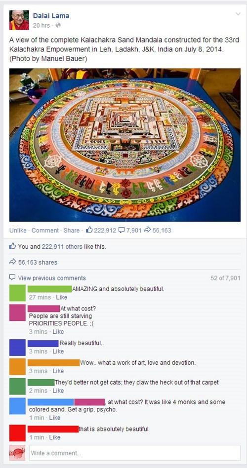 Dalai Lama Protest art