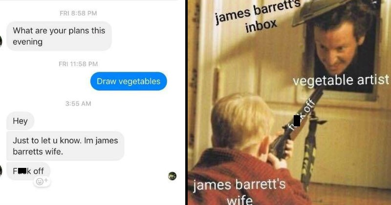 vegetables wtf artist strange conversation relationships message Memes facebook lol funny stupid - 8250885