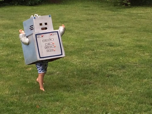 costume kids box parenting robots cardboard g rated - 8250915840