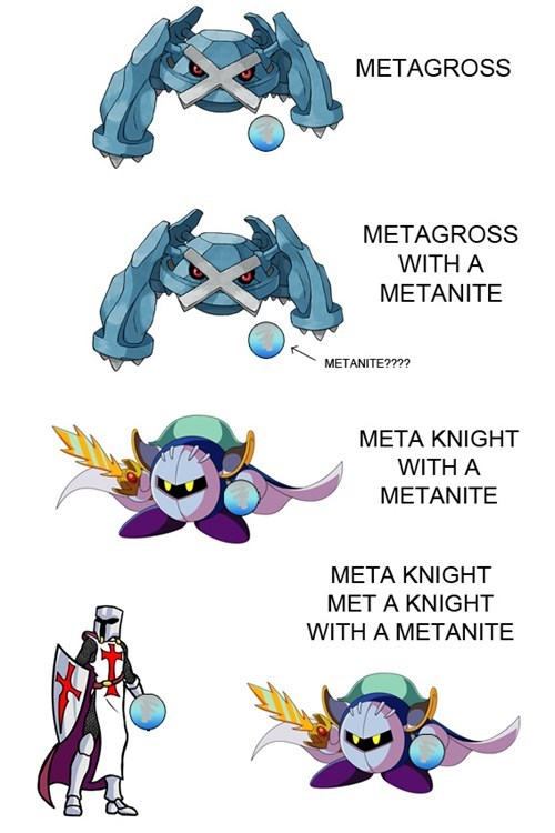 meta knight,meta,Pokémon,metagross,wordplay