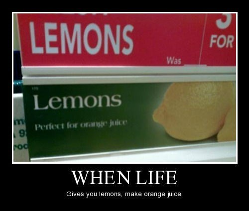 funny idiots lemons orange juice sign wtf - 8251066880