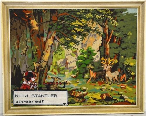 art Pokémon stantler - 8251124736