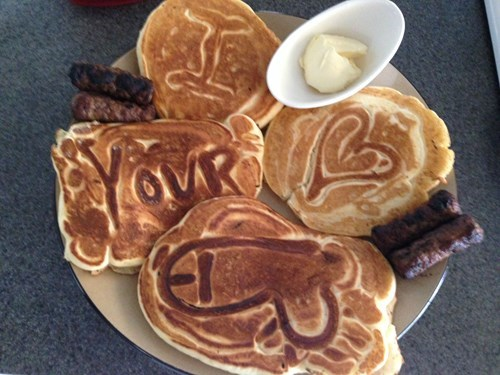 awesome breakfast in bed sexy times funny pancakes dating - 8251127040