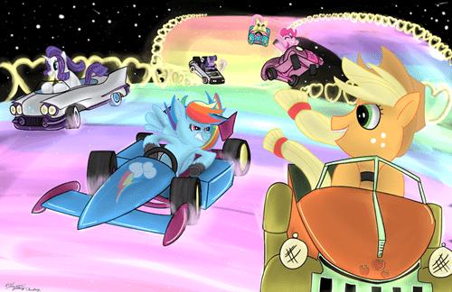 Fan Art mane 6 Mario Kart - 8251154688