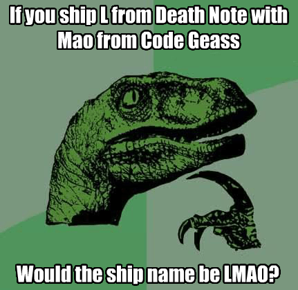 crossover anime code geass philosoraptor death note - 8251322880